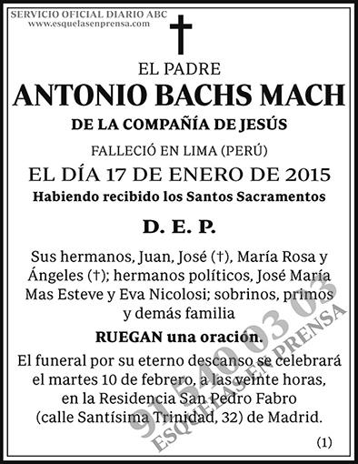 Antonio Bachs Mach